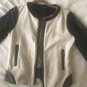 Sanctuary Leather and Canvas Jacket